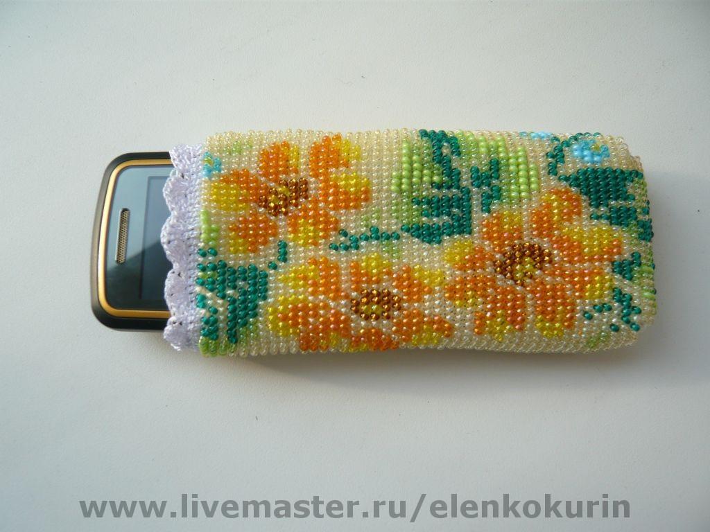 Мастер класс вязание бисером чехла для телефона