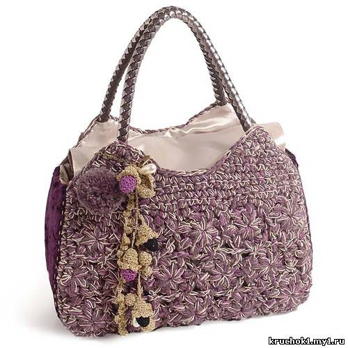 летняя сумочка связанная крючком - Сумки.